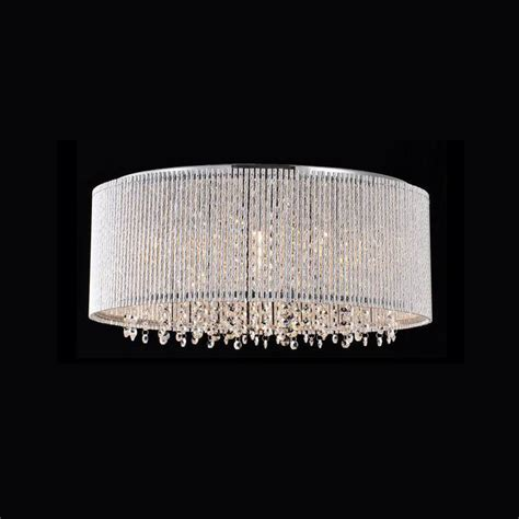 Crystalline Modern Flush Mount Chandelier Chrome Metal Flush Mount Chandelier Modern