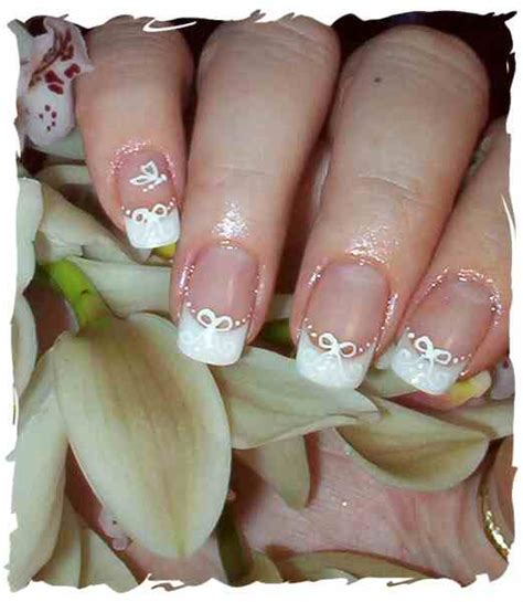 wedding nails beautiful white wedding nails designs ideas