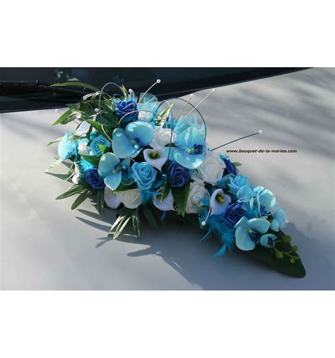 Decoration De Table Bleu Turquoise by D 233 Coration Voiture Mariage Bleu Turquoise Avec Roses