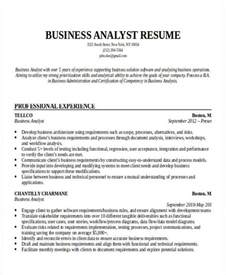 sle resume of business analyst in it industry 28 images