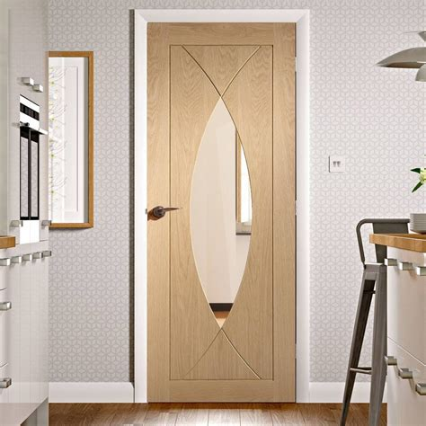 Pesaro Oak Fire Door With Clear Safety Glass Fire Doors Safety Glass Door