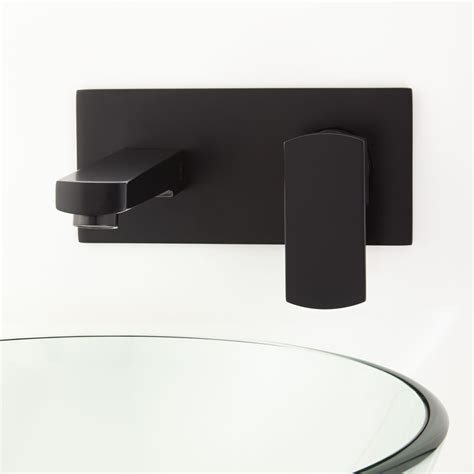 wall mount bathroom faucet altus wall mount bathroom faucet with square base and pop