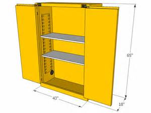 Self Closing Cabinets Flammable Storage Cabinet Self Closing Doors 45 Gallons