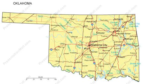 map oklahoma state oklahoma map and oklahoma satellite images