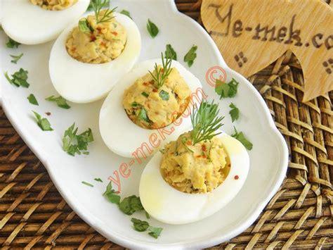 yumurta tarifi yumurta dolması tarifi nasıl yapılır resimli yemek