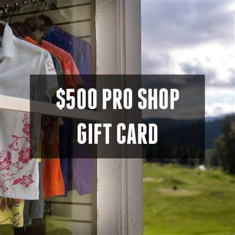 Redstone Gift Card - 500 pro shop gift card redstone resort