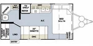 Rockwood Trailers Floor Plans by 2010 Rockwood Mini Lite Series M 1809 Floorplan Prices