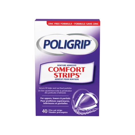 super poligrip comfort seal denture adhesive strips buy poligrip super comfort seal strips in canada free