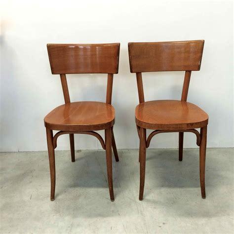 baumann chaise chaise de bistrot baumann vendues par deux en bois blond
