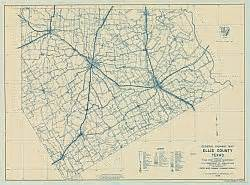 ellis county map ellis county historical map 1936