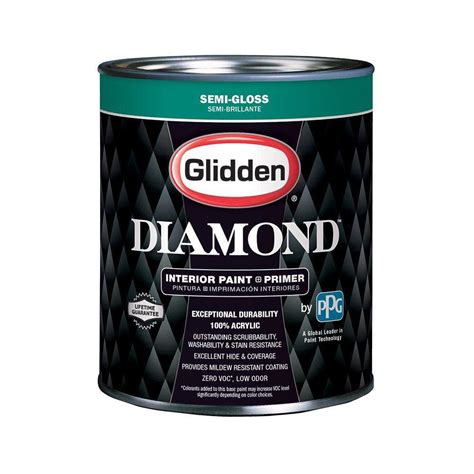 glidden paint glidden 1 qt white semi gloss interior paint and primer gld 7411 04 the home depot