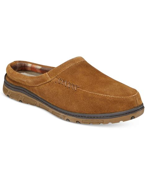 suede clogs for lyst rockport s suede clogs in brown for