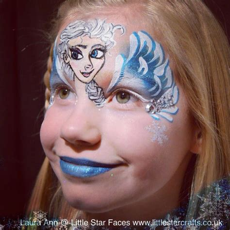 film makeup frozen frozen elsa face paint little star faces professional