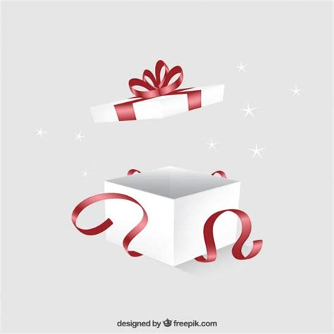 big box open during new year open gift box vector premium