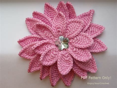 free pattern on how to crochet flowers how to crochet a flower tutorial www imgkid com the
