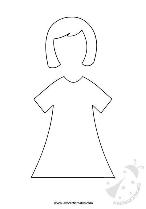 Festa della Mamma - Bambola da ritagliare