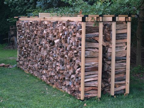 build firewood cutting rack how to build a firewood rack diy and repair guides