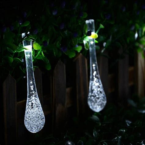 icicle snow fall led meteor falling star rain drop xmas