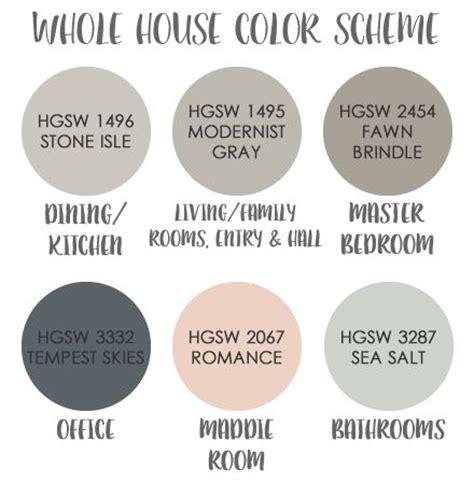 house paint colors interior schemes best 2245 paint whole house color palette images on pinterest other