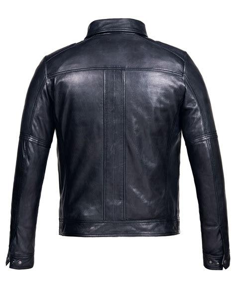 Jacket Hoodies Gojek 06 mens leather jacket with vintage black bomber genuine leather
