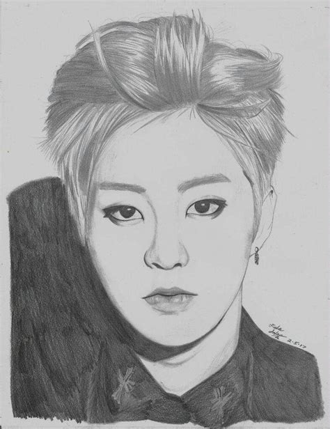 sketch book exo exo xiumin drawing process k pop amino