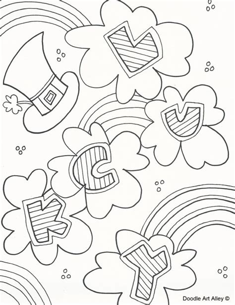 st patricks day coloring page 118 best coloring st s day images on