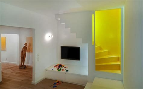 White Decorating with Yellow Color Accents, Contemporary
