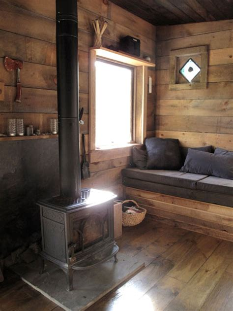tiny house fireplace tour of a tiny cabin in delhi new york