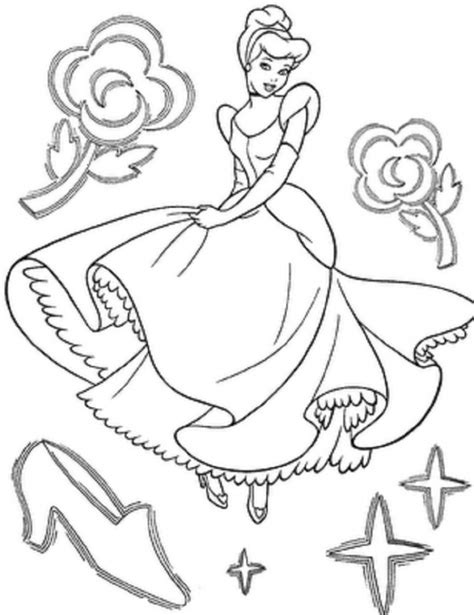 coloring pages to color online and print free printable cinderella coloring pages for kids
