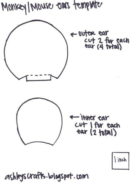 free printable animal ears image gallery ear template