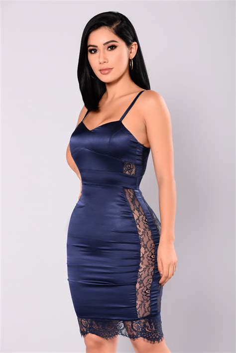 Dress Navy Fashion Wanita Dress Wanita be calling lace dress navy
