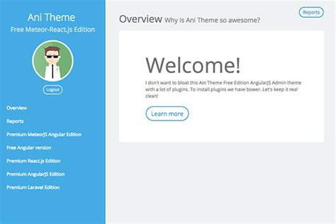 Start Meteor Free Meteorjs Themes React Web Page Template