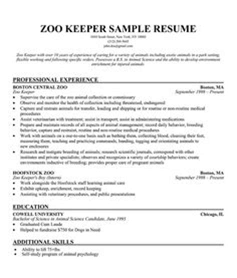 Cover Letter For Zoo Cover Letter Exle Cover Letter Exles Zoo