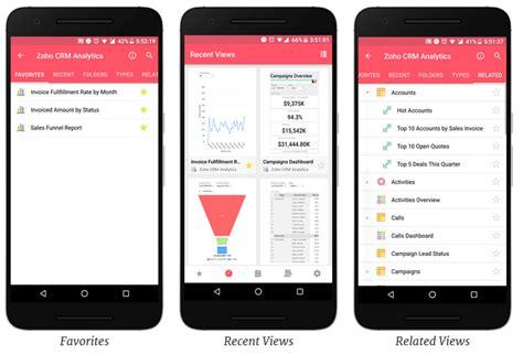 mobile zoho mangoho small but powerful zoho reports mobile app