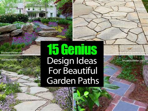 Decorating Program 15 genius design ideas for beautiful garden paths