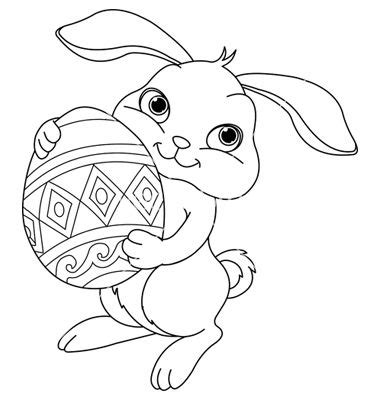 simple rabbit coloring page simple easter bunny coloring pages google search