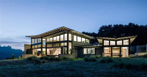 houses in the hills a butterfly inspired house in the hills near carmel california contemporist
