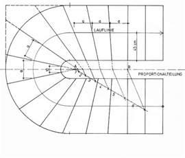 viertelgewendelte treppe konstruieren stufenausbildung treppen planungsgrundlagen baunetz
