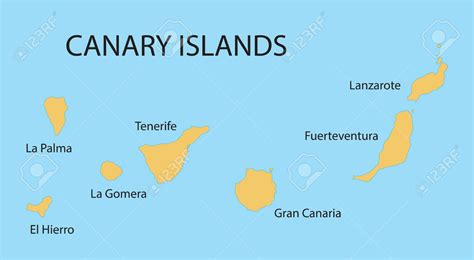map of canary islands canary islands clipart clipground