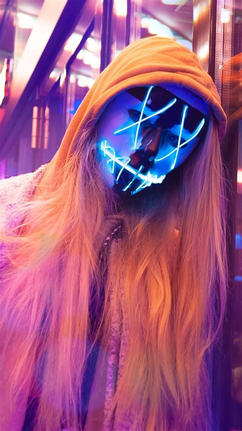 anonymous led mask girl  wallpapers hd wallpapers id