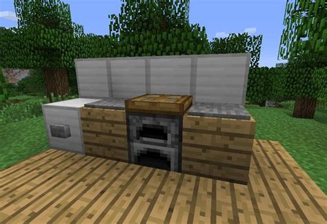 minecraft furniture kitchen how to make furniture in minecraft minecraft
