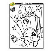 Shopkins Poppy Corn Coloring Page  Crayolacom