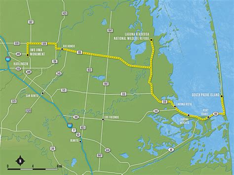 map of harlingen texas harlingen to south padre island tx 508 tx 106 tx 510 tx 100 ride texas ride texas