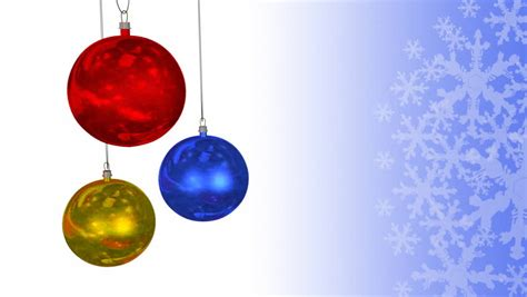 christmas spheres dangling animation hd three colorful