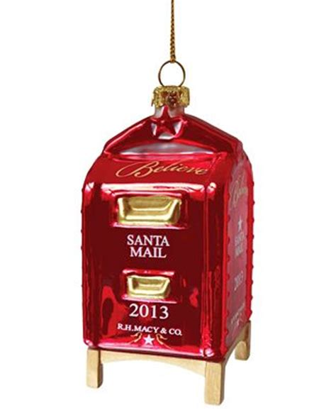 yes virginia mailbox christmas ornament macy s