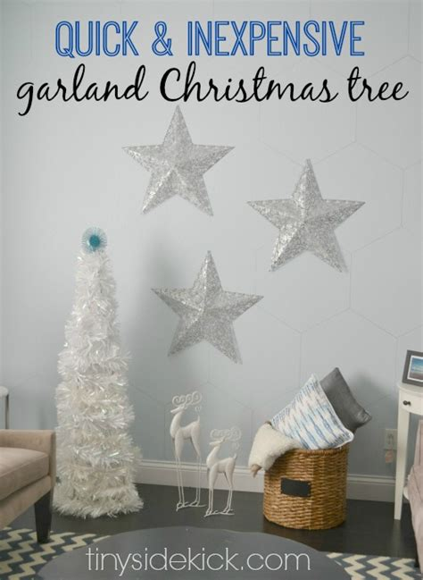 diy garland christmas tree modern christmas decor
