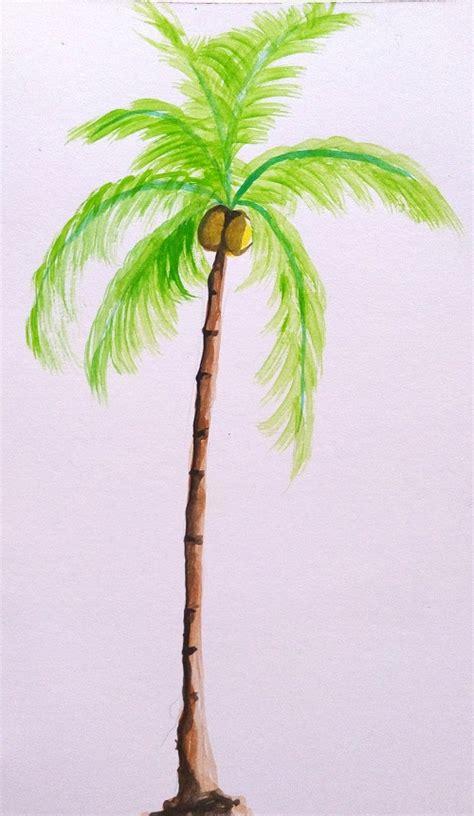 cara membuat warna coklat pohon cara mewarnai pohon dengan watercolor mayagami