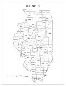 Map Of Illinois Counties by Illinois Labeled Map