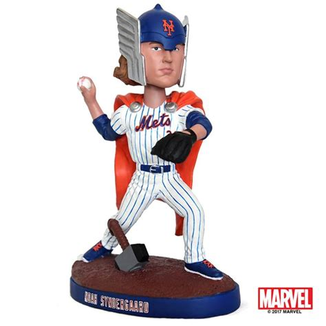 bobblehead giveaway mets marvel team up for syndergaard thor bobblehead