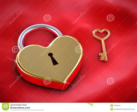 heart lock and key royalty free stock photography image